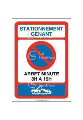 Panneau Stationnement Arrêt minute-AI