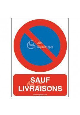 Panneau Stationnement interdit sauf livraisons-AI