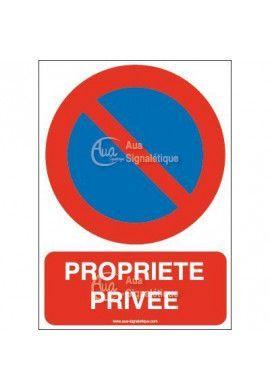 Panneau Stationnement interdit propriété privée-AI