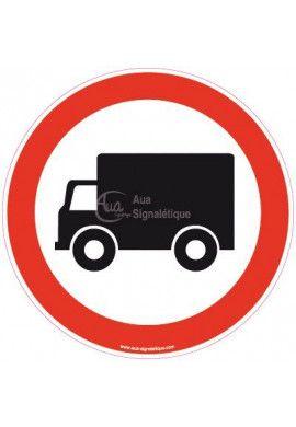 Panneau Interdit aux camions