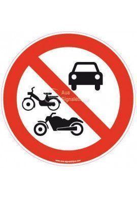 Panneau Interdit aux véhicules motorisés