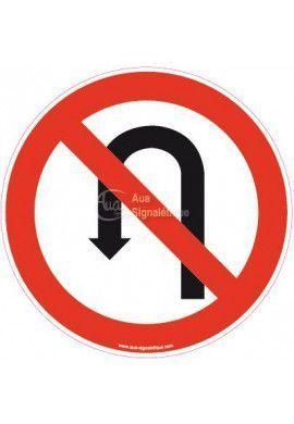 Panneau Demi-tour interdit
