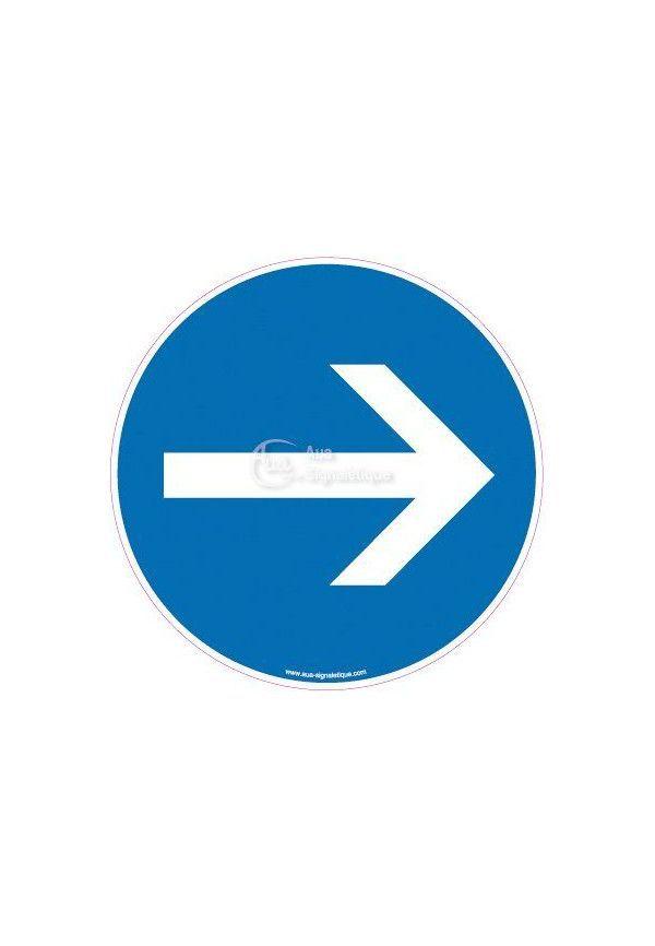 Autocollant Sens de Circulation obligatoire