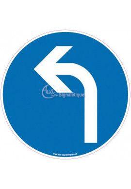 Panneau Obligation de tourner à gauche