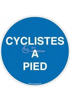 Panneau Obligation cyclistes à pied