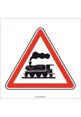 Panneau Danger voies ferrées