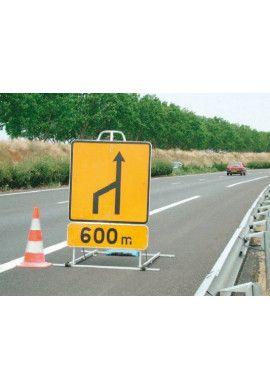 Support aluminium pour grand et très grand panneaux routier
