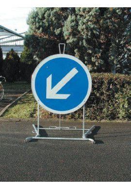 Support pour très grand panneaux routier