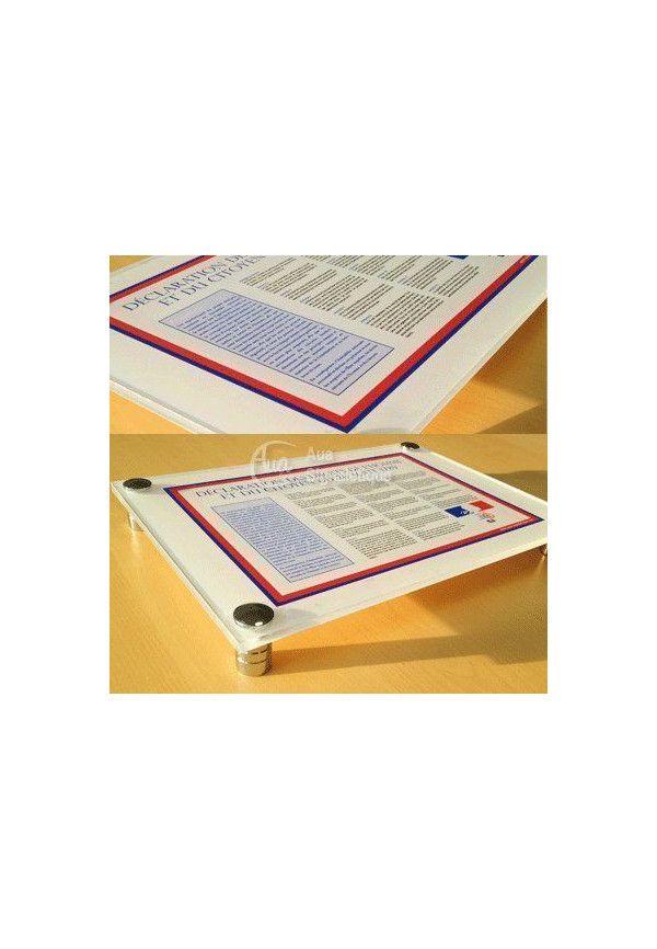Affiche de La Déclaration des Droits de l'Homme et du Citoyen