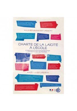 Panneau Affiche Charte de la laïcité à l'École