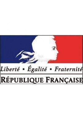 Panneau Tricolore Liberté, Egalité, Fraternité