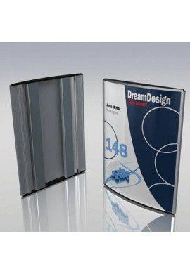 Plaque signalétique galbée en aluminium anodisé