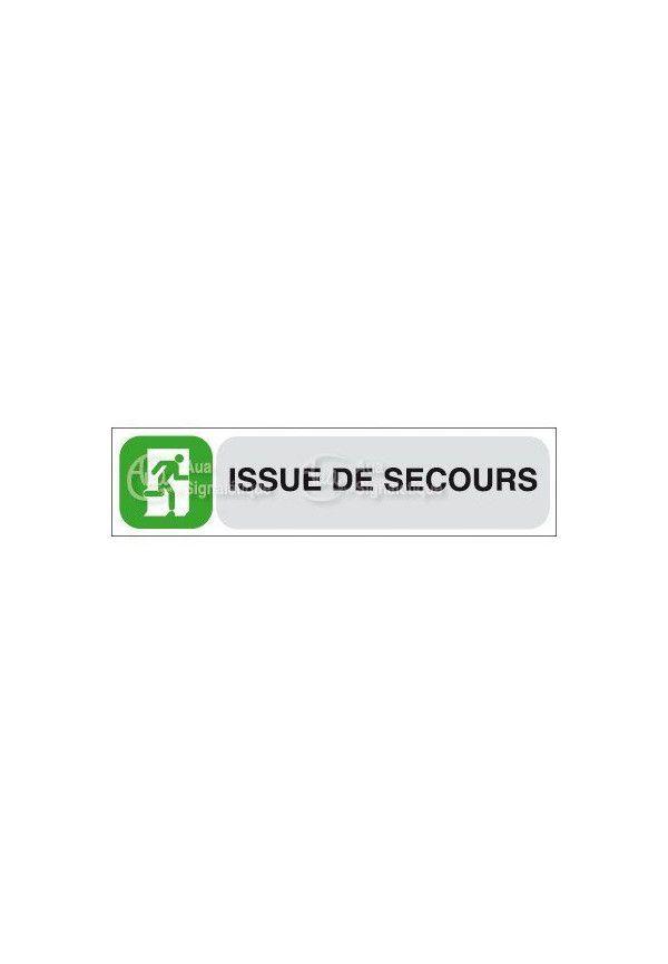Plaque de porte Issue de Secours