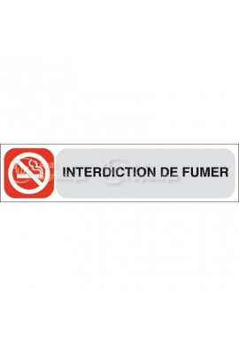 Plaque de porte Interdiction de Fumer