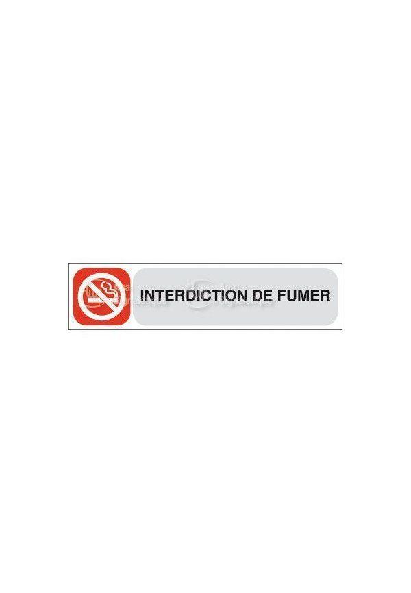 Plaque de porte Interdiction de Fumer