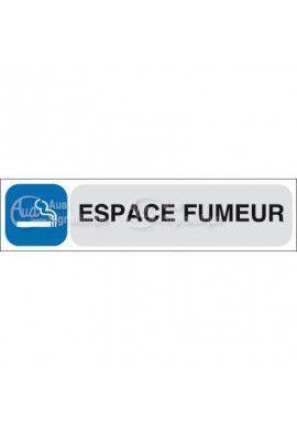 Plaque de porte Espace Fumeur