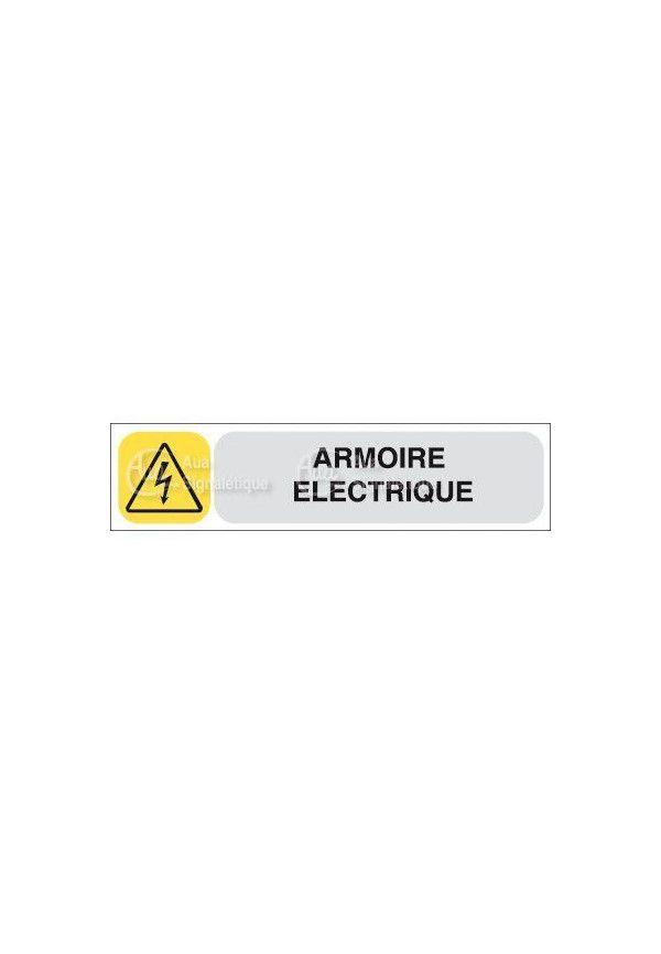 Plaque De Porte Aua Signaletique Armoire Electrique