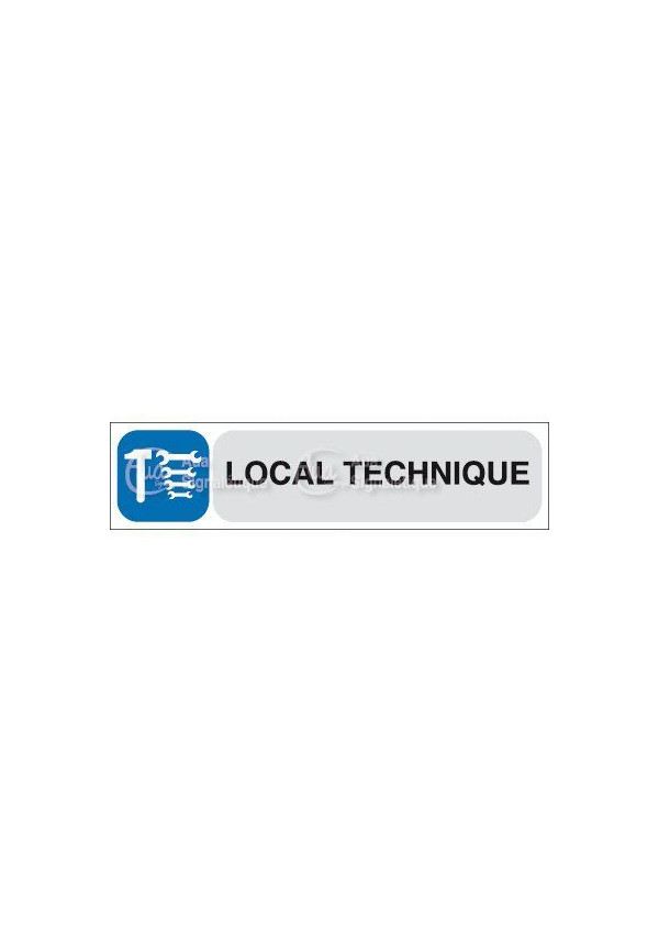 Plaque de porte Local technique
