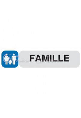 Plaque de porte Famille