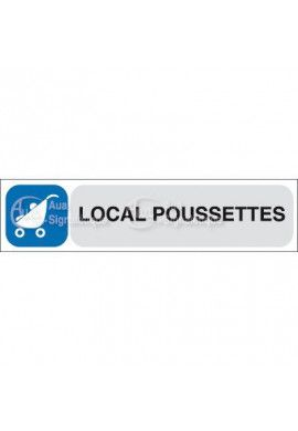 Plaque de porte Local Poussettes