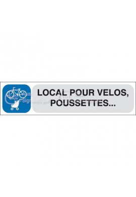 Plaque de porte Local pour Vélos et Poussettes