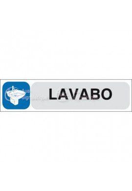 Plaque de porte Lavabo
