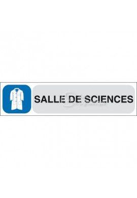 Plaque de porte Salle de sciences