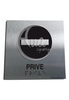 Plaque Alu Brossé Braille Privé