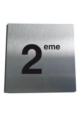 Plaque Alu Brossé 2ème Etage
