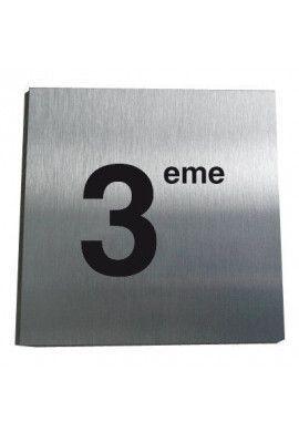 Plaque Alu Brossé 3ème Etage