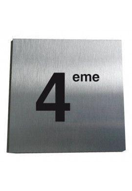 Plaque Alu Brossé 4ème Etage