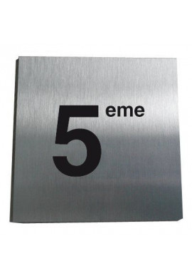 Plaque Alu Brossé 5ème Etage