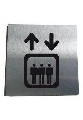 Plaque Alu Brossé Ascenseur
