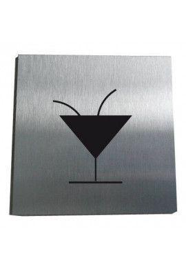 Plaque Alu Brossé Bar