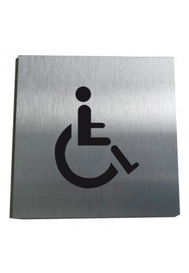 Plaque Alu Brossé Handicapé