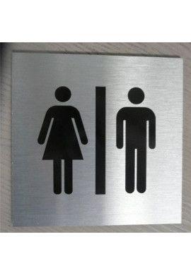 Plaque Alu Brossé WC Handicapés