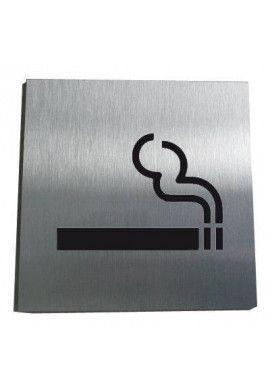 Plaque Alu Brossé Zone Fumeur