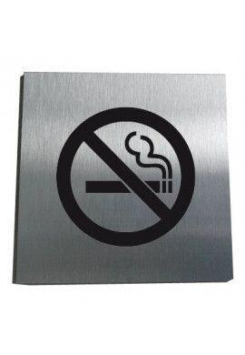 Plaque Alu Brossé Interdit de Fumer