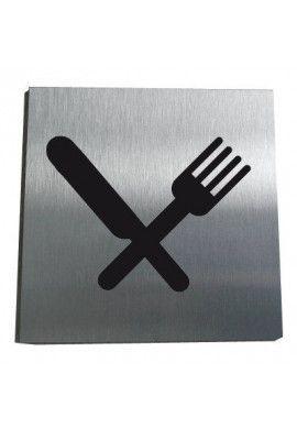 Plaque Alu Brossé Restaurant