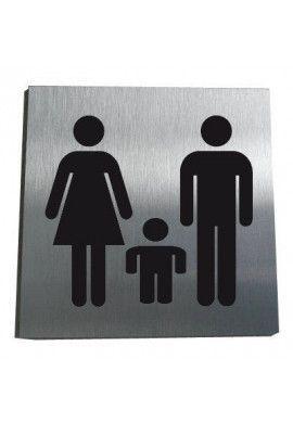 Plaque Alu Brossé Famille