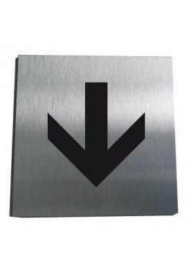 Plaque Alu Brossé Flèche Directionnelle 01