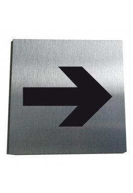 Plaque Alu Brossé Flèche Directionnelle 04
