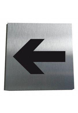 Plaque Alu Brossé Flèche Directionnelle 05