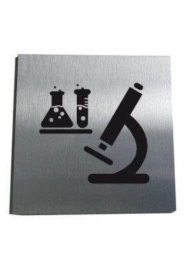 Plaque Alu Brossé Laboratoire