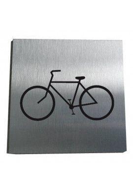 Plaque Alu Brossé Vélos