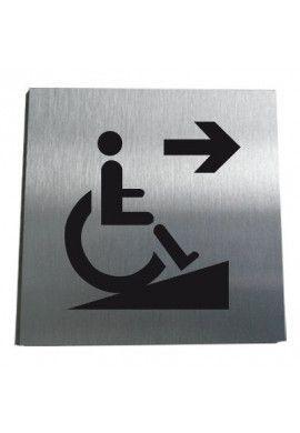 Plaque Alu Brossé Rampe d'Accès Handicapé