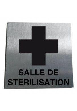 Plaque Alu Brossé Salle de Stérilisation