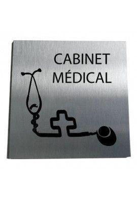 Plaque Alu Brossé Cabinet Médical