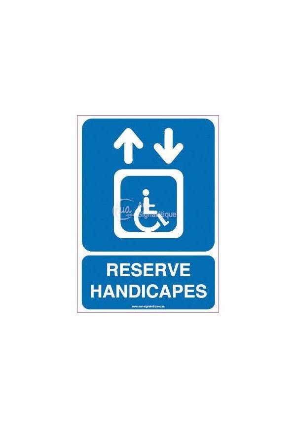 Panneau Ascenseur Réservé aux Handicapés Vertical