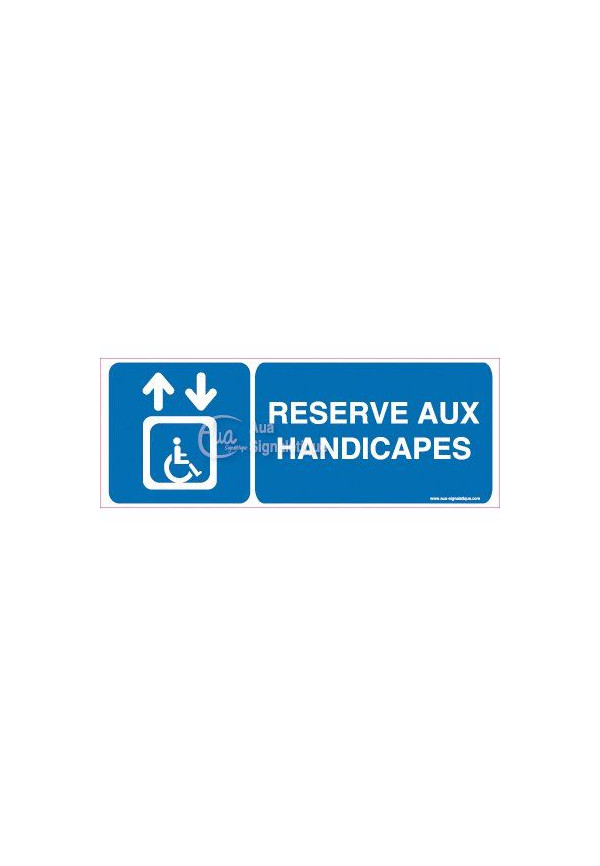 Panneau Ascenseur Réservé aux Handicapés Horizontal
